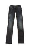 Black worn jeans Stock Photo
