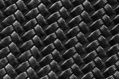Black woven leather for background Royalty Free Stock Images