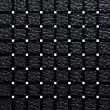 Black woven leather for pattern and background Stock Photo