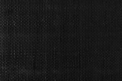 Black woven plastic cloth texture Stock Photo