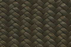 Black woven straw texture for pattern Stock Photos