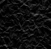 Black wrinkled paper background texture Royalty Free Stock Photo