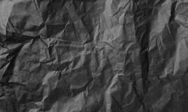 Black wrinkled paper Royalty Free Stock Photo