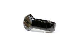 Black wrist watch Stock Images