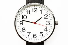 Black wristwatches. Isolated on white background Stock Images
