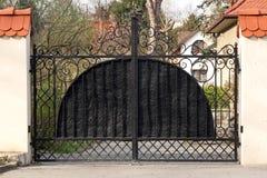 Black wrought gate Royalty Free Stock Image