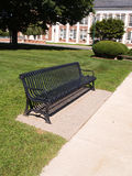 Black wrought iron bench Royalty Free Stock Photography