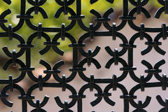 Black Wrought Iron Fence Stock Photos