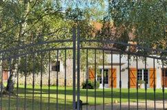 Black wrought iron gate Royalty Free Stock Photo