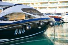 Black yacht Stock Image