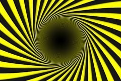 Black and yellow abstract background lines black hole. 3d illustration Royalty Free Stock Images