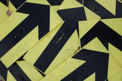 Black and yellow arrows Royalty Free Stock Photography