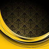 Black  and yellow background Stock Photos
