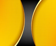 Black and yellow background composition Royalty Free Stock Images