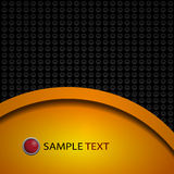 Black and yellow background composition Vector illustration eps Royalty Free Stock Images
