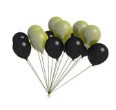 Black and yellow balloon fan Royalty Free Stock Image