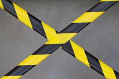 Black and Yellow Barrier Tape Royalty Free Stock Images