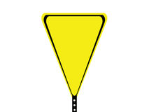 Black and yellow blank triangle sign Royalty Free Stock Photos