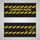 Black and yellow business card Stock Photos