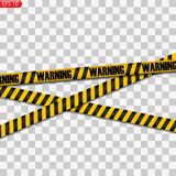 Black and yellow caution lines royalty free illustration