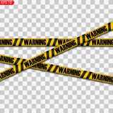 Black and yellow caution lines stock illustration