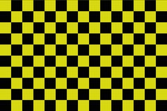 Black and yellow checkerboard background -Vector ilustration - EPS 10 stock illustration