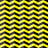 Black and yellow chevron seamless pattern Royalty Free Stock Images