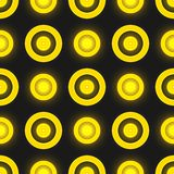Black and yellow colored retro seamless vector Royalty Free Stock Images
