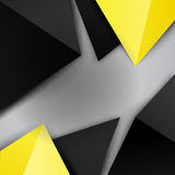 Black and yellow colorful triangle background Royalty Free Stock Photography