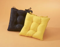 Black and yellow cushion Stock Photo