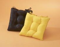 Black and yellow cushion Stock Photo