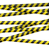 Black and yellow danger tape Stock Photos