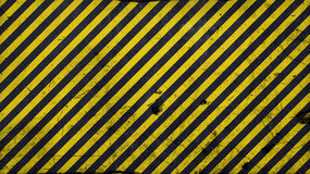 Black and yellow diagonal lines - warning lines - 16:9 ration Stock Photo
