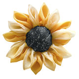 Black and yellow flower from tissue Royalty Free Stock Image