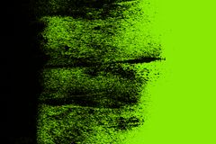 Black and yellow green hand painted background texture with grunge brush strokes vector illustration