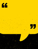 Black and yellow grunge quote poster Royalty Free Stock Images