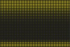 Black and yellow halftone background. Vector illustration royalty free illustration