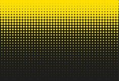 Black and yellow halftone background. Vector illustration stock illustration