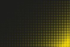 Black and yellow halftone background. Vector illustration vector illustration