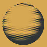 Black and yellow halftone sphere design Royalty Free Stock Photos