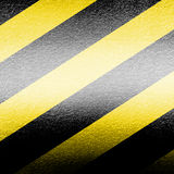 Black and yellow hazard lines Royalty Free Stock Photos