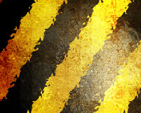 Black and yellow hazard lines Stock Photos
