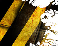Black and yellow hazard lines Stock Image