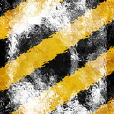 Black and yellow hazard lines Royalty Free Stock Image