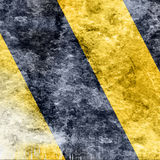 Black and yellow hazard lines. With soft highlights royalty free stock photos