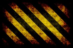Black Yellow Hazard Stripes Stock Images