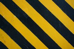 Black Yellow Hazard Stripes Stock Photography