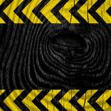 Black and yellow hazard stripes Stock Photography
