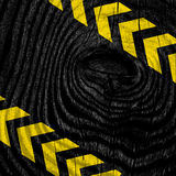Black and yellow hazard stripes Royalty Free Stock Image