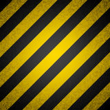 Black and yellow hazard stripes royalty free illustration